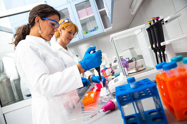 real female scientists researching - laboratory equipment stock photos and pictures
