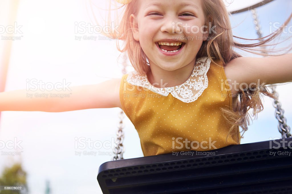 Real happiness from her soul stock photo