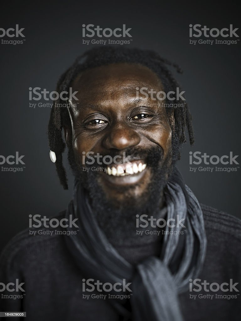 Real happy man stock photo