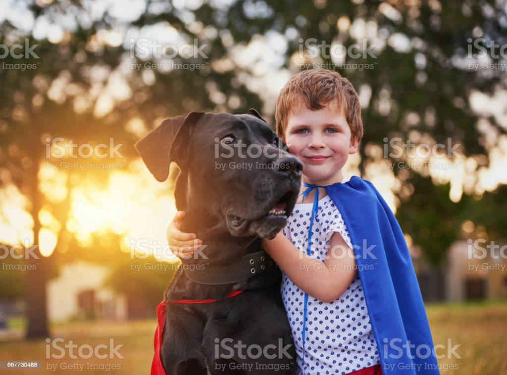 Real heroes never stand alone stock photo