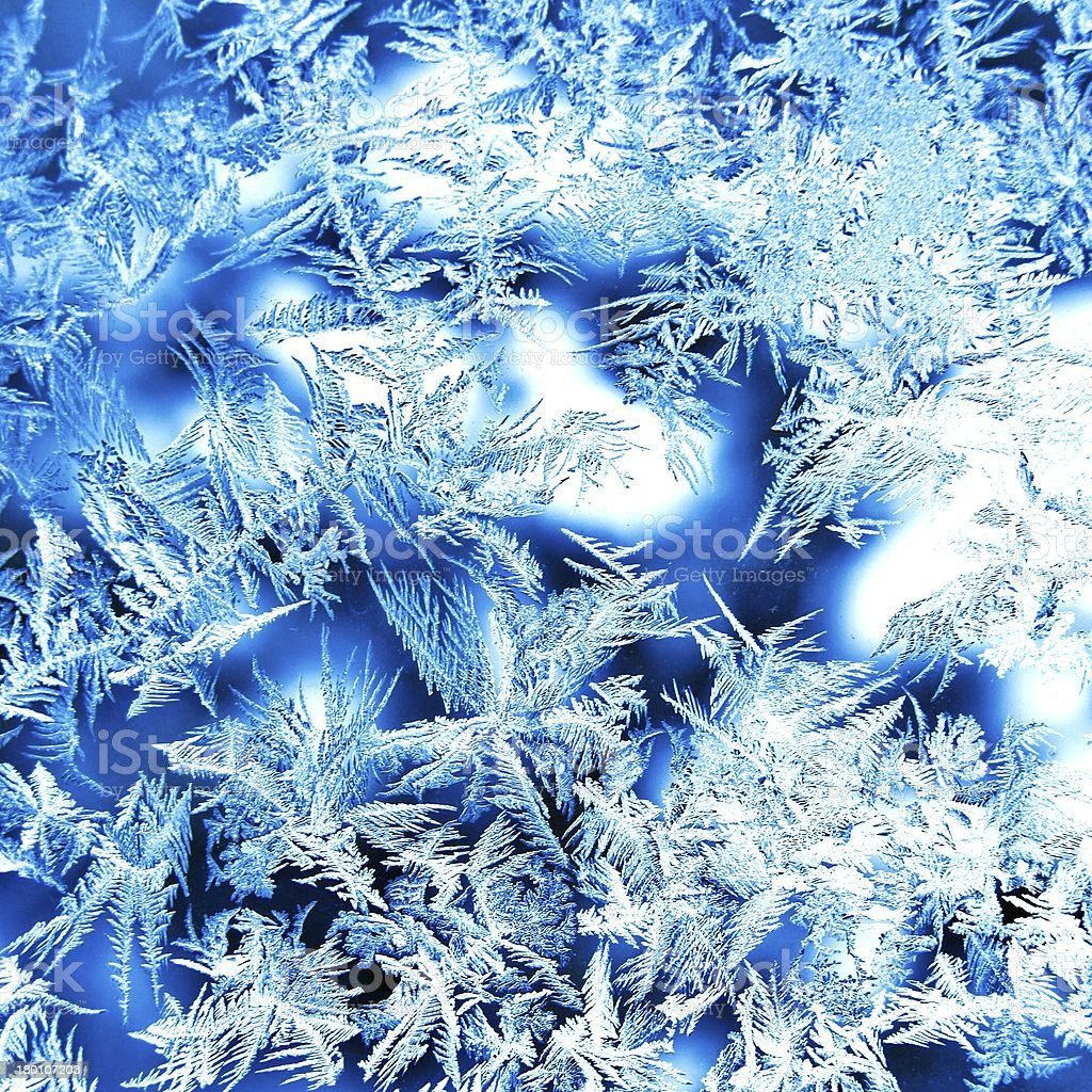 real ice crystals stock photo