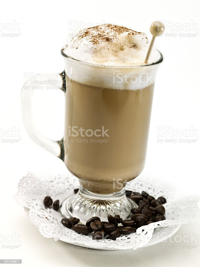 Real Italian Cafe latte royalty-free stock photo