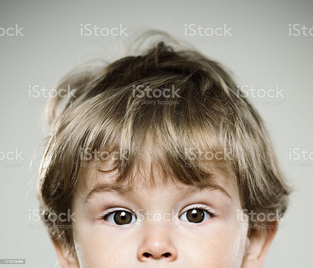 Real kid Portrait of a real german kid. 1,5 years. 12-17 Months Stock Photo