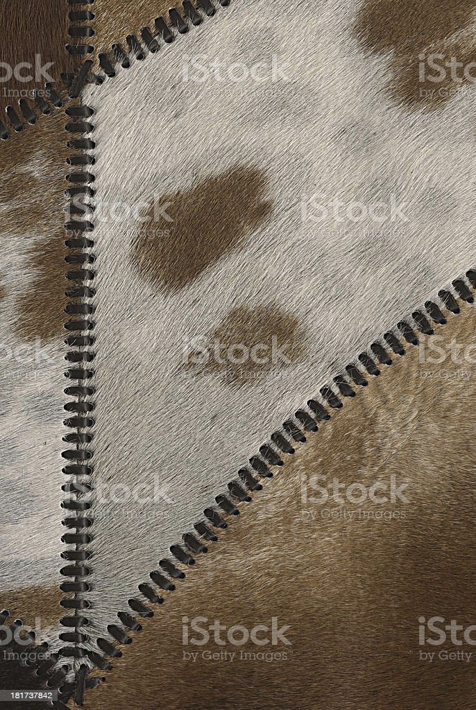 Real leather patchwork royalty-free stock photo