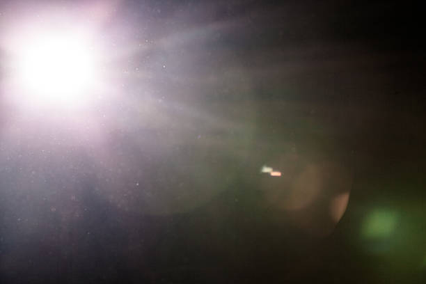 Real Lens Flare and Dusty Atmosphere stock photo