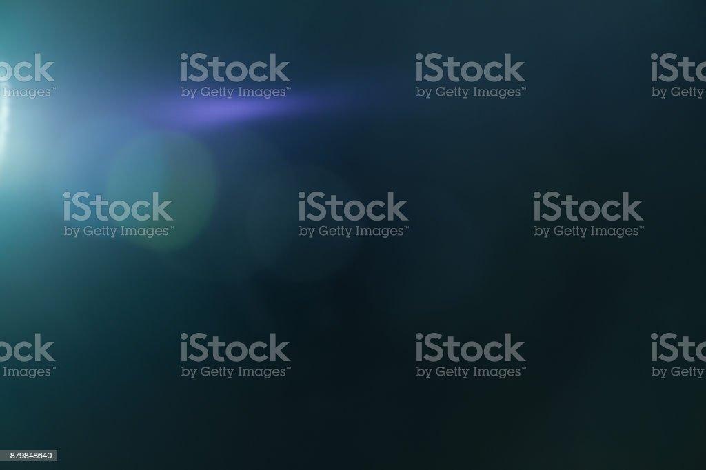 Real efecto luminoso de la llamarada de la lente. Fuga de Ray - foto de stock