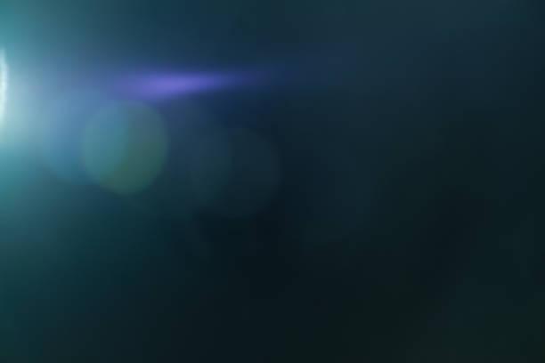 Real Lens flare light effect. Ray leak - foto stock