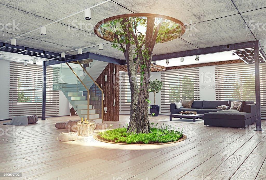 arbre de concept de s jour en int rieur photos et plus d. Black Bedroom Furniture Sets. Home Design Ideas