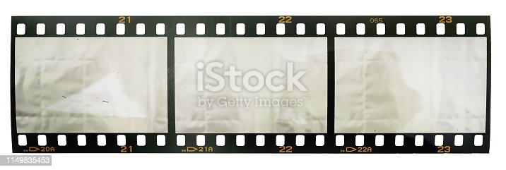 1125303139 istock photo real macro photo of 35mm film strip or snip on white background 1149835453