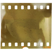 real 35mm film on white