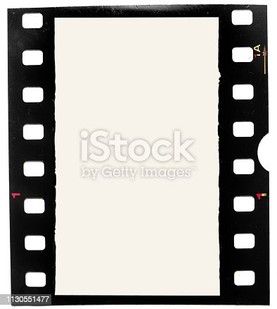 1125303139 istock photo real macro photo of grungy looking 35mm filmstrip or film frame on white background 1130551477