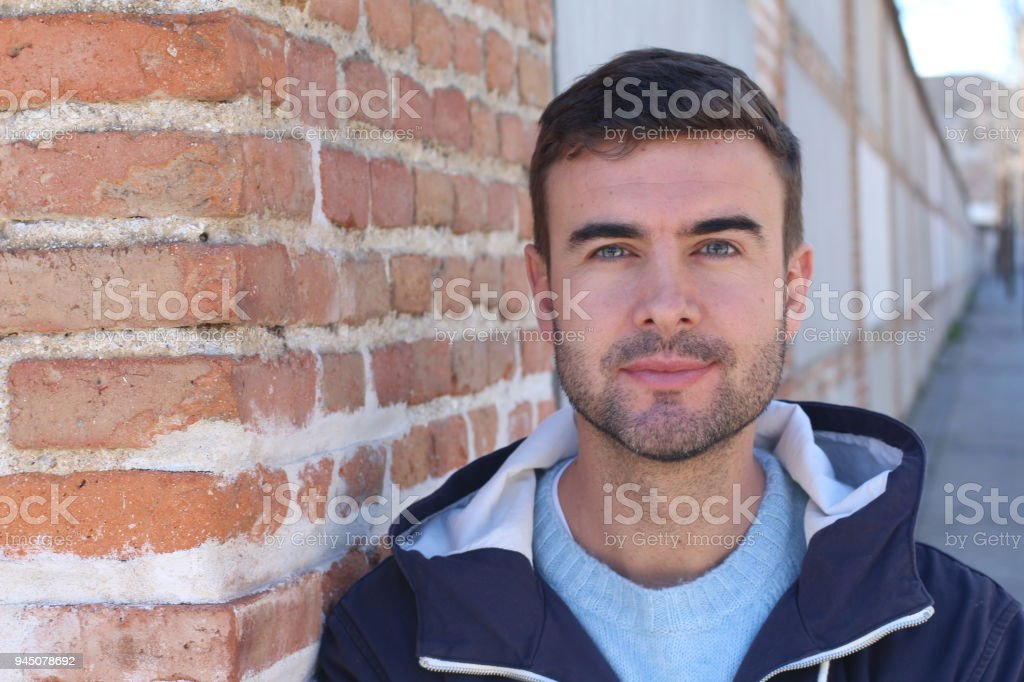 Real man close up isolated Real man close up isolated. 30-34 Years Stock Photo