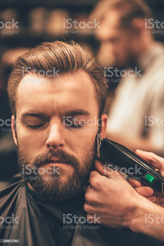 Real man grooming. stock photo