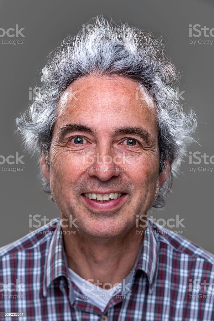 Real man, happy royalty-free stock photo