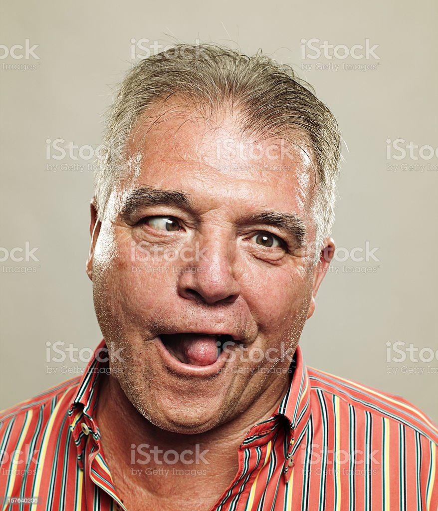 Real man royalty-free stock photo