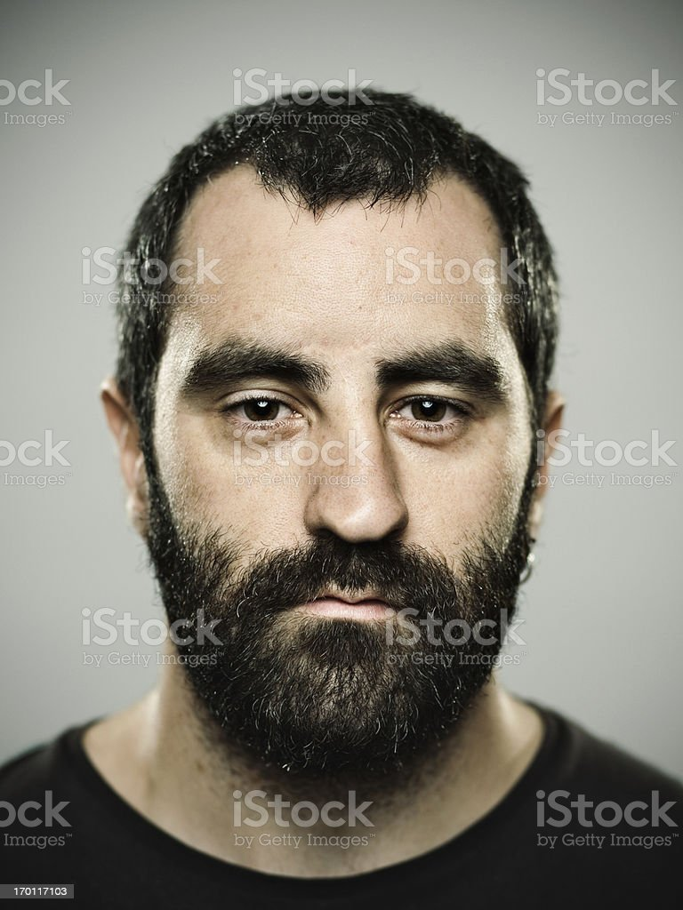 Real man stock photo