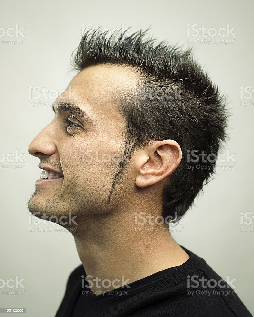 Real man profile royalty-free stock photo