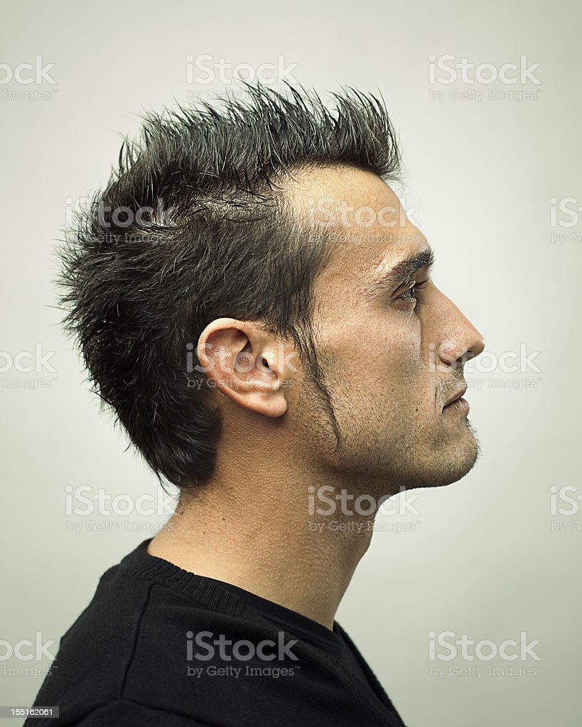 Real man profile stock photo