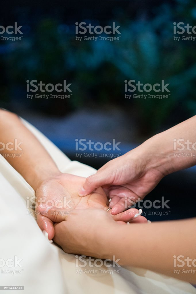 Real Massage Professional - hands foto stock royalty-free