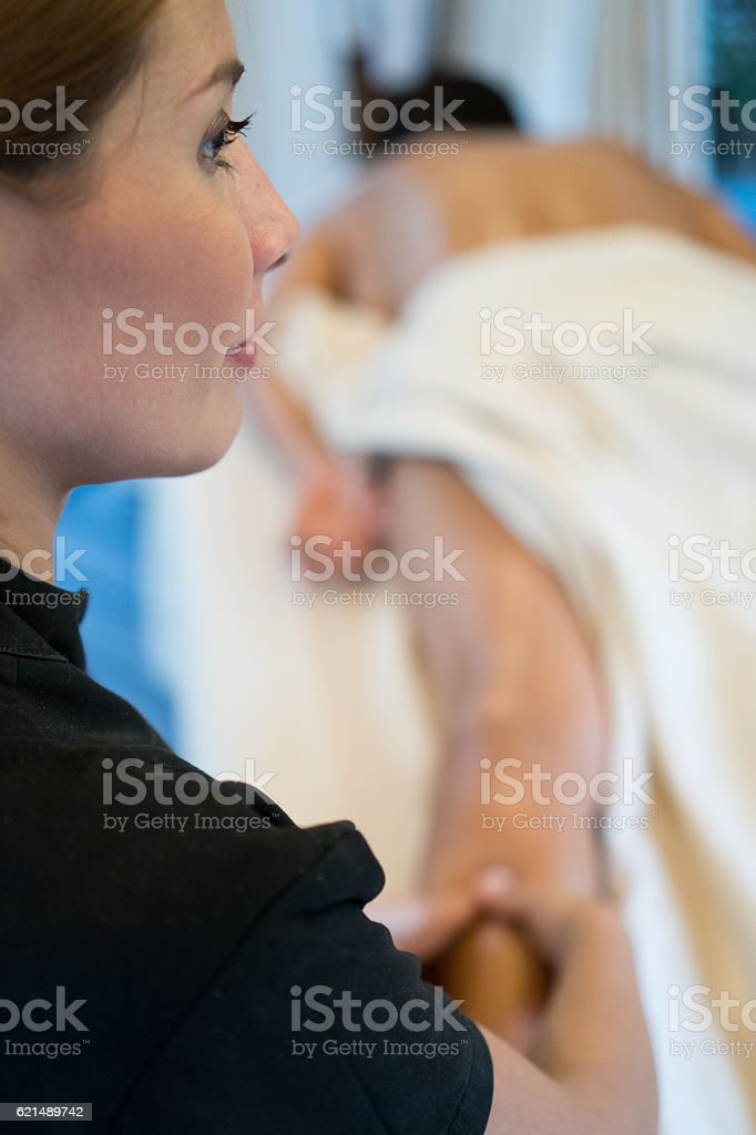 Real Massage Professional - legs photo libre de droits