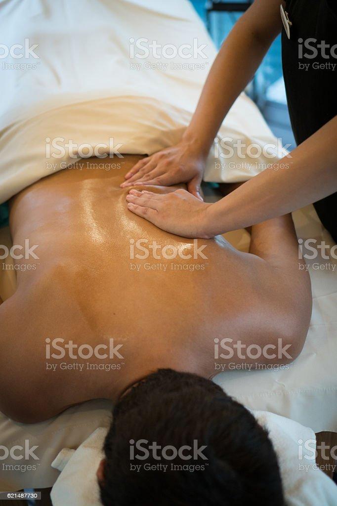 Real Massage Professional - oils photo libre de droits