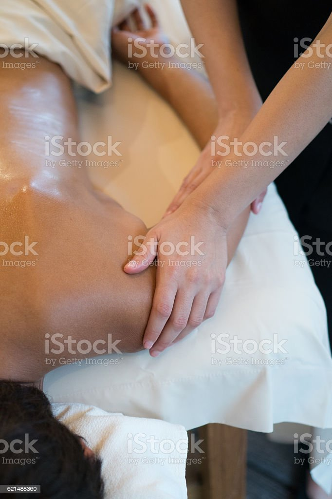 Real Massage Professional  - shoulder photo libre de droits