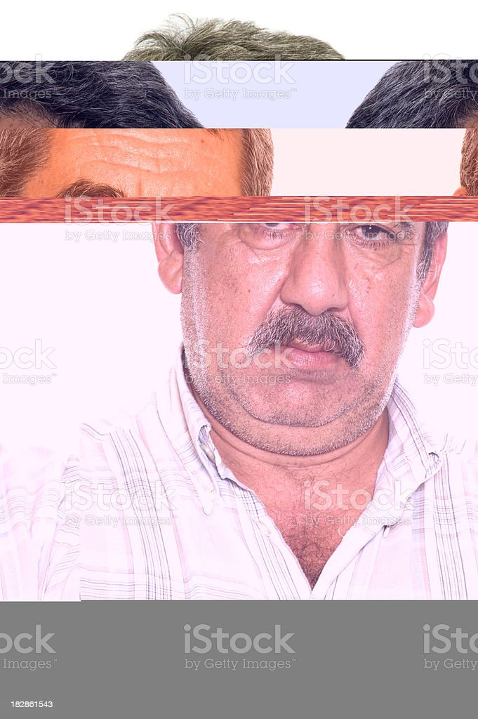 Real mature man stock photo