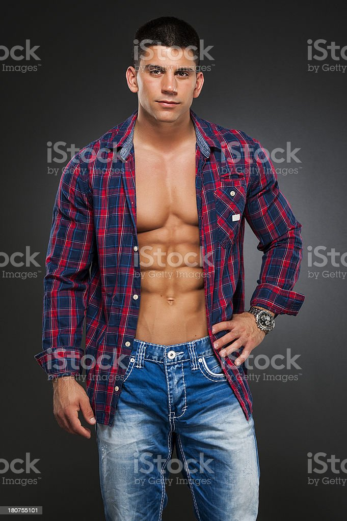 Real Men royalty-free stock photo