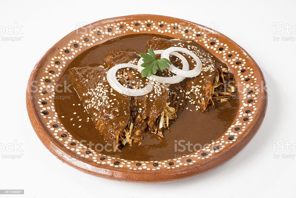 Real Mexican Enchiladas stock photo