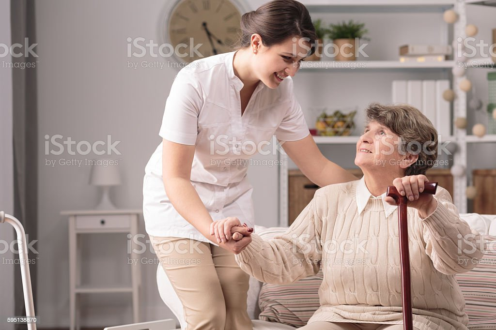 Real nice helping hand stock photo