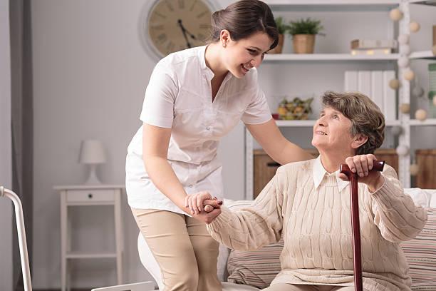 real nice helping hand - 介護士 ストックフォトと画像