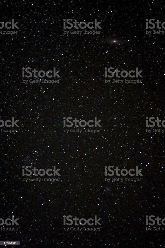 Real night sky stock photo