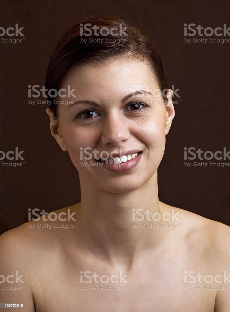 Real nude female portrait royalty-free stock photo