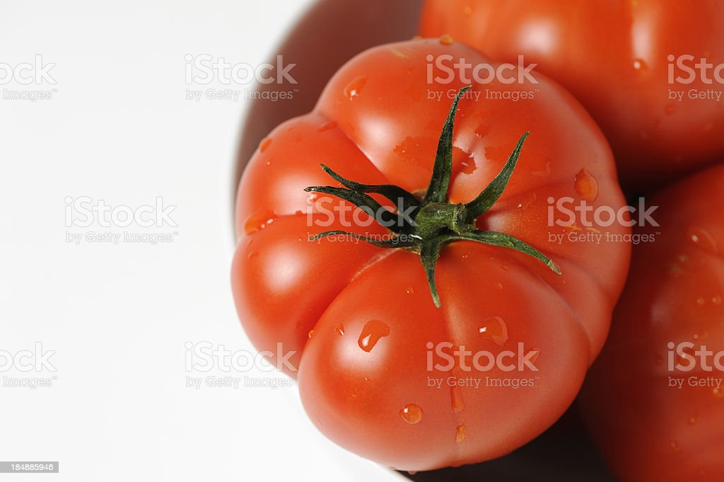 Real Organic Beefsteak Tomatoes stock photo