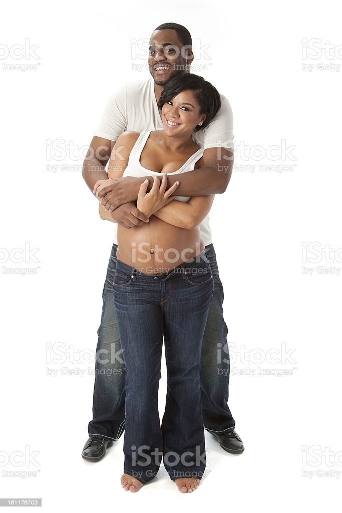 Real People Adult Couple Maternity African American Pregnant Royalty Free Stock Photo