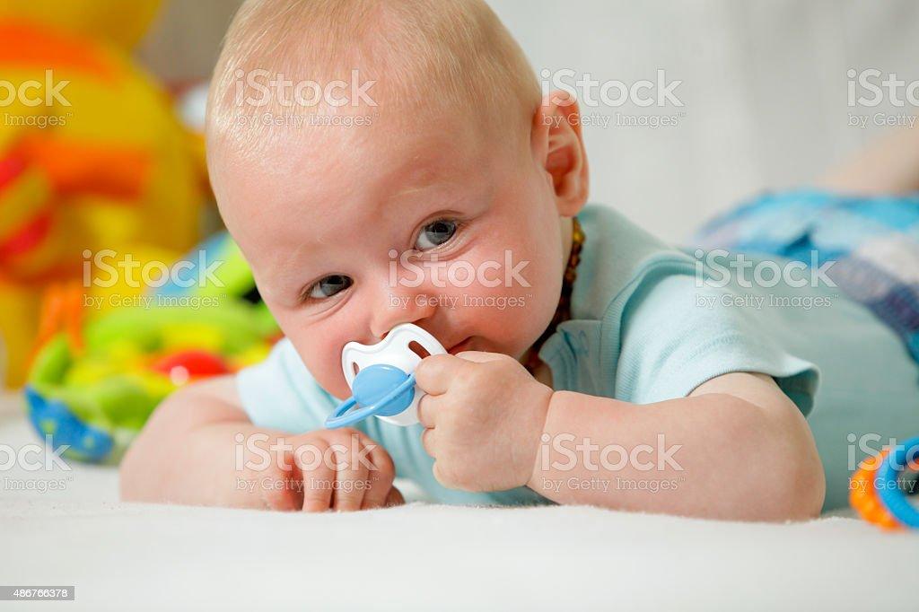 Real People: Cute Baby boy looking at camera stock photo