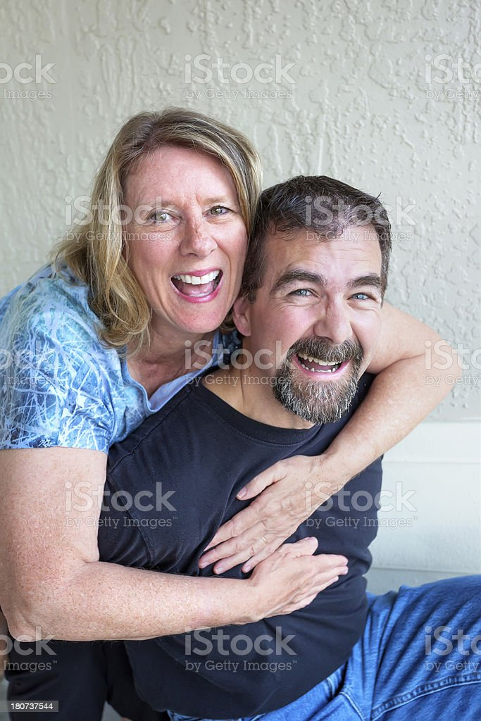 Real people Happy mid age couple royalty-free stock photo