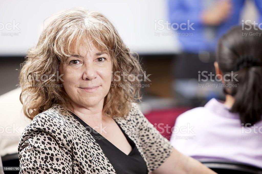 Head Shoulders Caucasian Mature Adult Business Woman