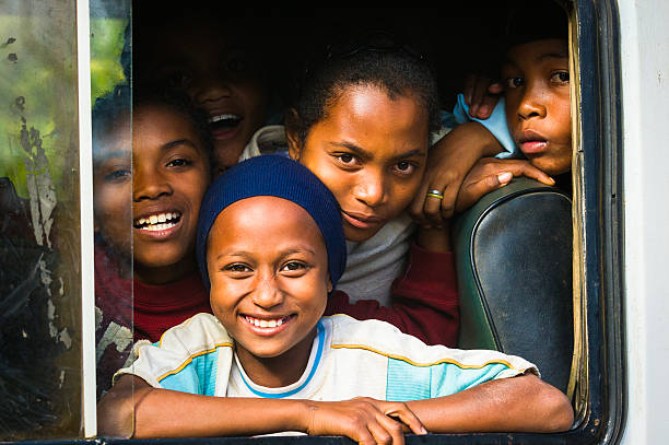 Real people in Madagascar stock photo