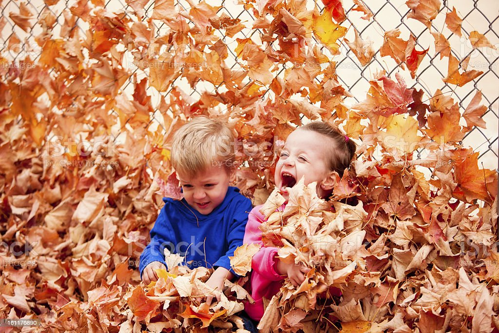 Real People Laughing Brother Sister Children Playing In