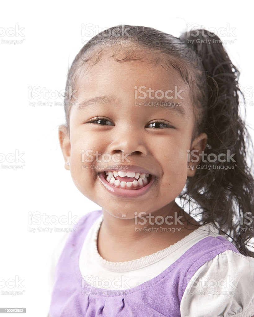 Real People Mixed Race Smiling Little Girl Asian Black -2841