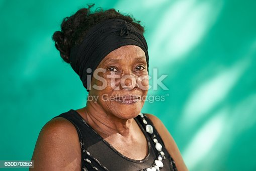 istock Real People Portrait Happy Elderly African American Woman 630070352