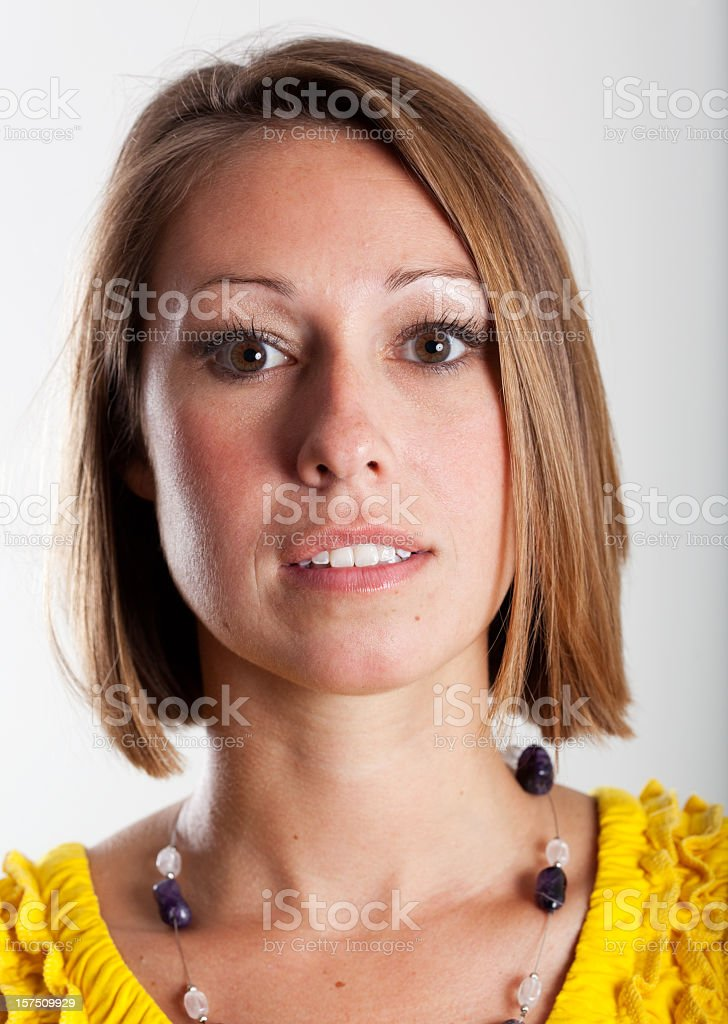 Real People Portrait: Plain, Young Caucasian Woman royalty-free stock photo