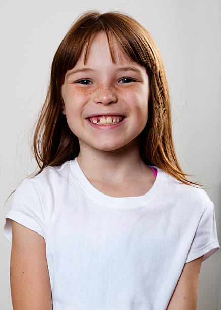 Real People Portrait: Smiling, Pre-Teen Girl stock photo