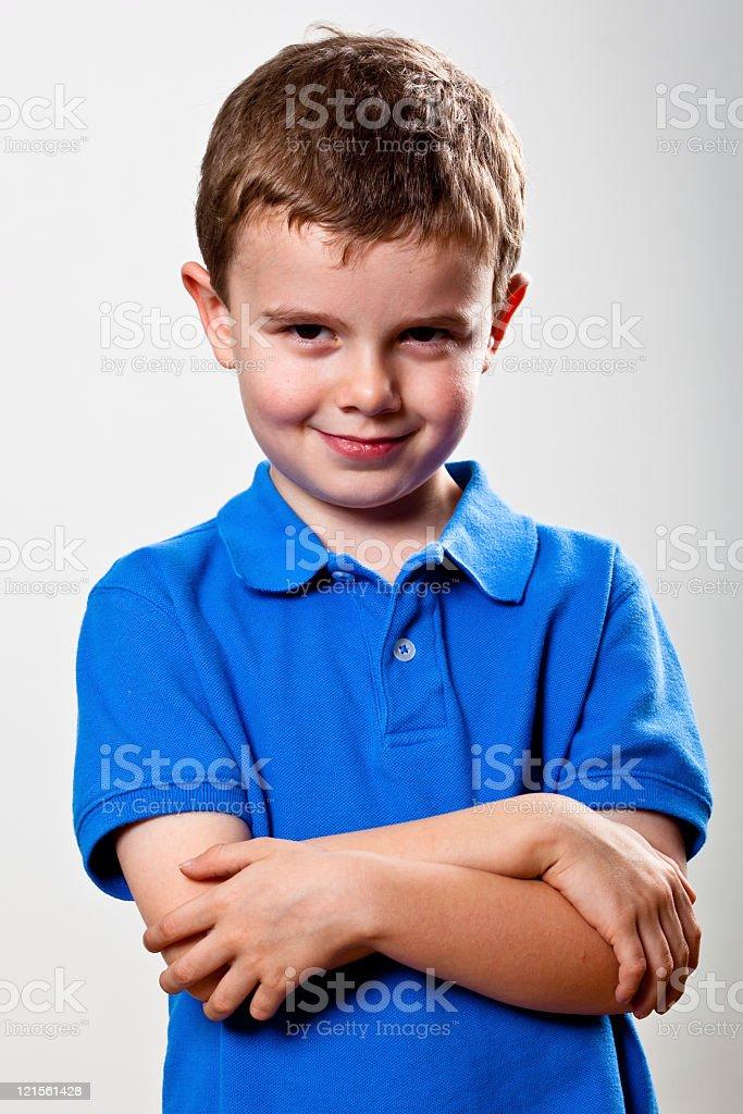 Real People Portrait: Waist Up, Pre-School Boy stock photo
