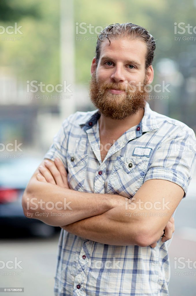 real people with beards and moustaches