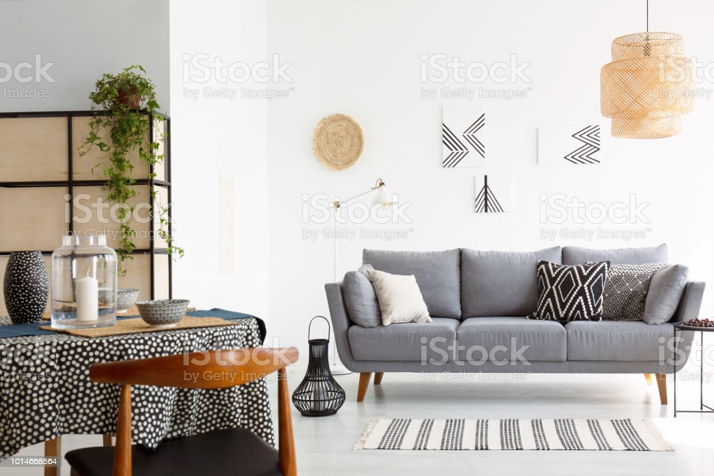 Magnificent Real Photo Of A Bright And Cozy Living Room Interior With Machost Co Dining Chair Design Ideas Machostcouk