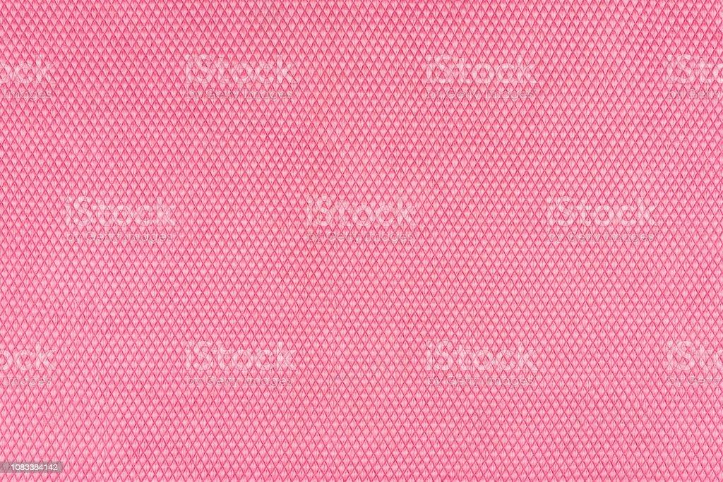Echte, rosa Gestrick Fragment hergestellt aus synthetischen Fasern strukturierten Hintergrund, mit zarten Muster. – Foto