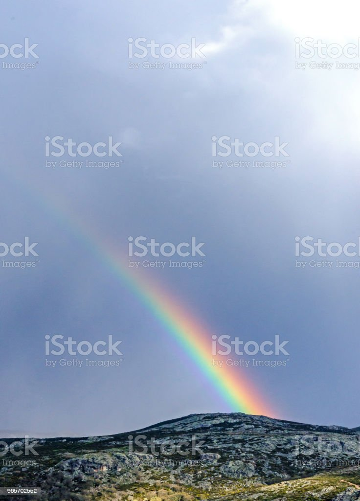 Real Rainbow On The Mountain After The Storm Stock Photo Download Image Now Istock