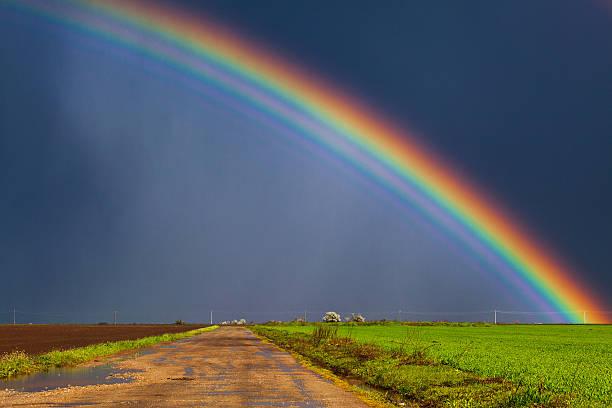 Real rainbow stock photo